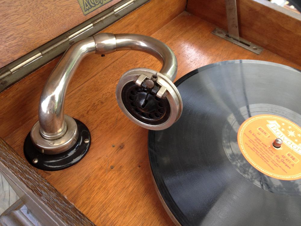 Grammophon aus einem Hofflohmarkt - Klicken für mehr Infos